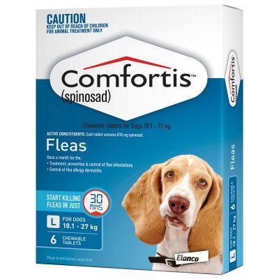 Comfortis For Dogs 18.1-27kg Blue 6 Tablets