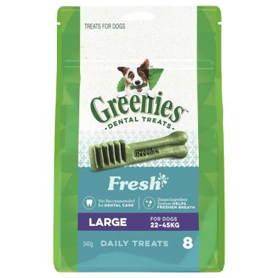 Greenies Dental Treats Freshmint Large For Dogs 22-45kg (8 Treats In Pack) 340gm