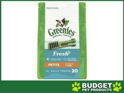 Greenies Dental Treats Freshmint Petite For Dogs 7-11kg (20 Treats In Pack) 340gm