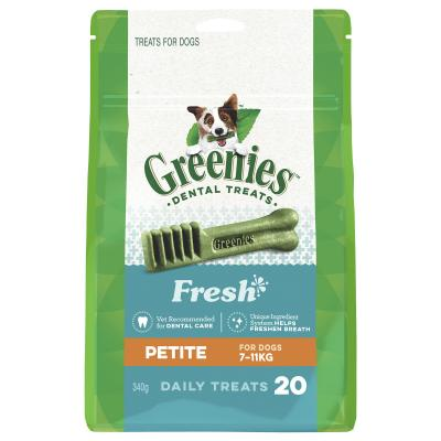 Greenies Dental Treats Freshmint Petite For Dogs 7-11kg (20 Treats In Pack) 340gm