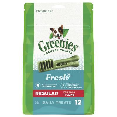 Greenies Dental Treats Freshmint Regular For Dogs 11-22kg (12 Treats In Pack) 340gm