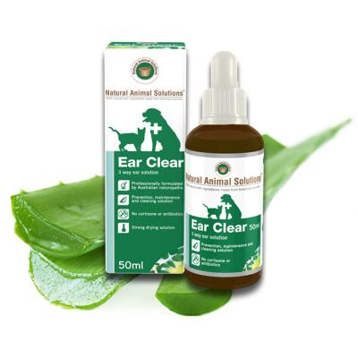 Natural Animal Solutions Ear Clear For Dogs And Cats 50ml