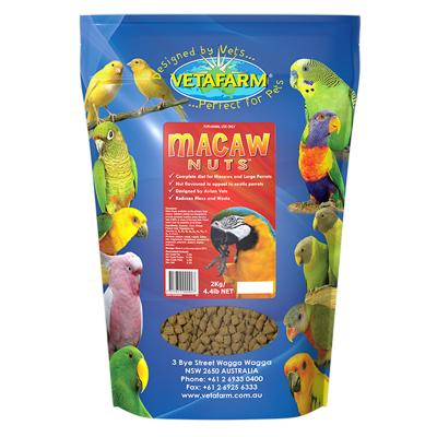 Vetafarm Macaw Nuts Complete Diet For Large Parrot Birds 2kg