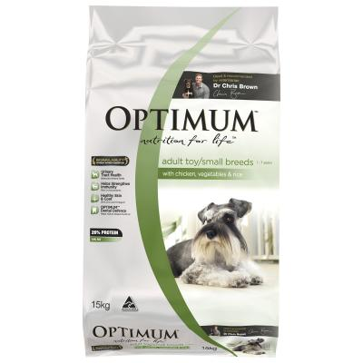Optimum Chicken, Vegetables And Rice Small Breed Adult Dry Dog Food 15kg