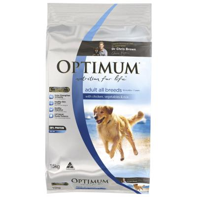 Optimum Chicken Vegetables And Rice Adult Dry Dog Food 15kg