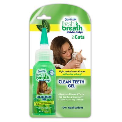 Tropiclean Fresh Breath Clean Teeth Gel For Cats 59ml