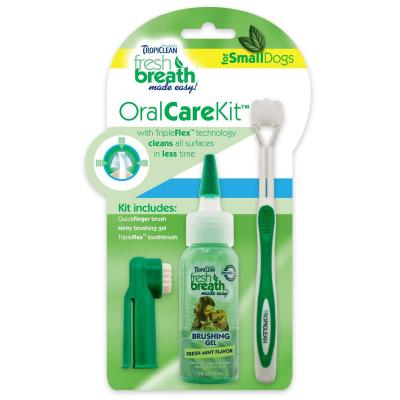 Tropiclean Fresh Breath Oral Care Kit For Small Cats And Dogs