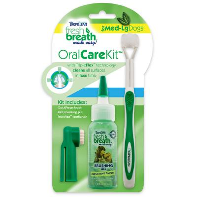 Tropiclean Fresh Breath Oral Care Kit For Medium/Large Dogs