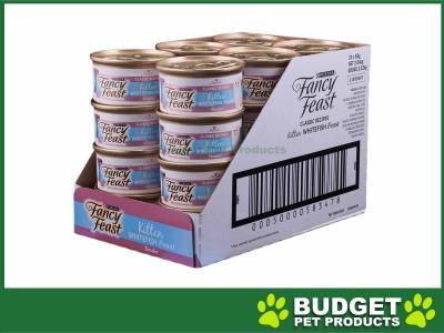 Fancy Feast Whitefish Feast Kitten Canned Wet Cat Food 85gm x 24