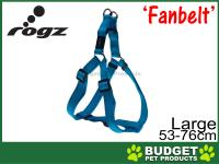 Rogz Utility Fanbelt Reflective Step-In Harness Turquoise Large For Dogs 53-76cm x 20mm