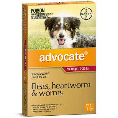 Advocate For Dogs Large Red 10-25kg Single Dose