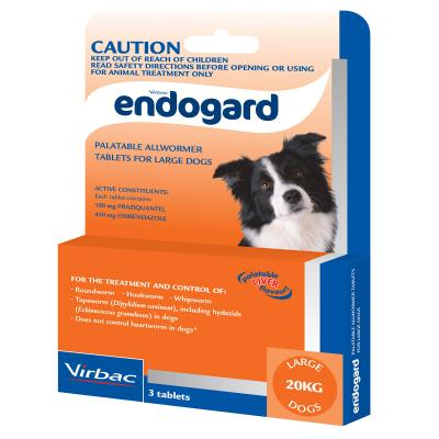 Endogard All Wormer For Dogs Large 3 Tabs