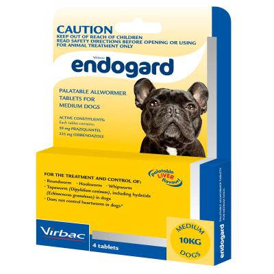 Endogard All Wormer For Dogs Medium 4 Tabs
