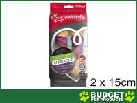 Yours Droolly Rawhide Chicken Wrap Pork Knotbone Dog Treats 2pack 15cm