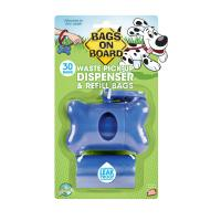 Bags On Board Pet Waste Poo Bag Bone Dispenser Blue