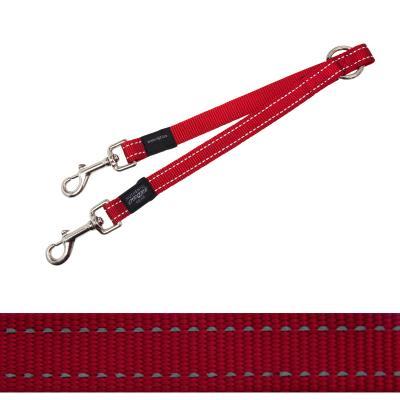 Rogz Fanbelt Splitter Coupler Red Large For Dogs