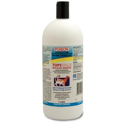 Fidos Topizole Medicated Shampoo For Cats And Dogs 1L