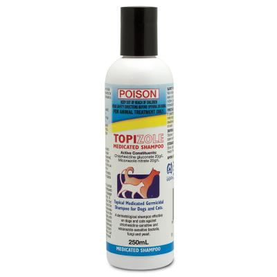 Fidos Topizole Medicated Shampoo For Cats And Dogs 250ml