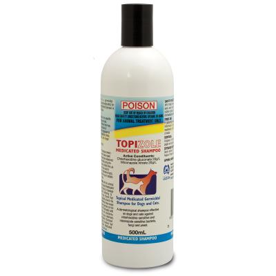 Fidos Topizole Medicated Shampoo For Cats And Dogs 500ml