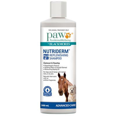 Paw Nutriderm Shampoo For Dogs Cats & Horses 500ml