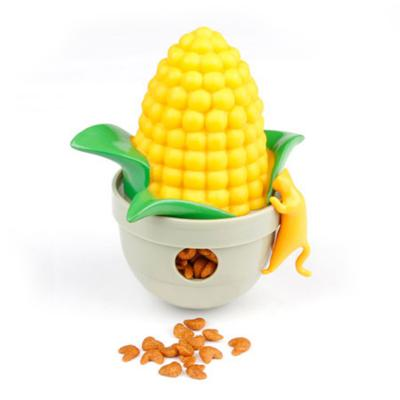 CA Tumbler Corn Yellow Treat Dispensing Toy For Cats