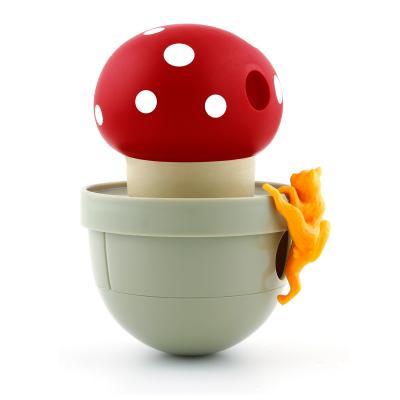 CA Tumbler Mushroom Red Treats Toy For Cats