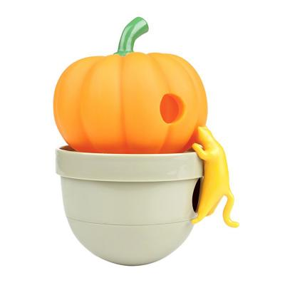 CA Tumbler Pumpkin Orange Treat Dispensing Toy For Cats