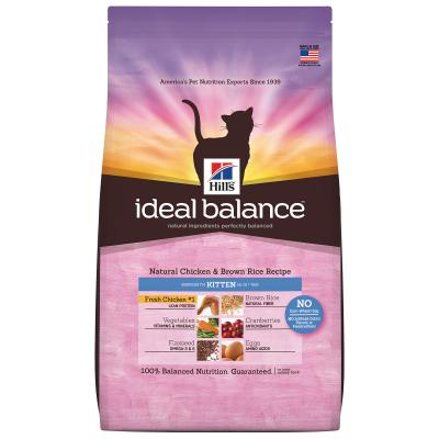 Hills Ideal Balance Natural Chicken And Brown Rice Kitten Dry Cat Food 2.72kg  (2294)