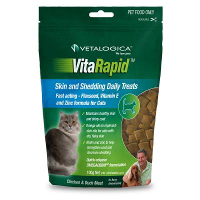 Vetalogica VitaRapid for Cats Skin And Shedding Daily Treats