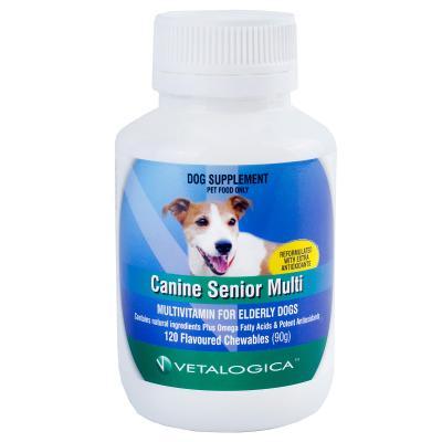 Vetalogica Canine Senior Multi For Dogs x 120 Tablets