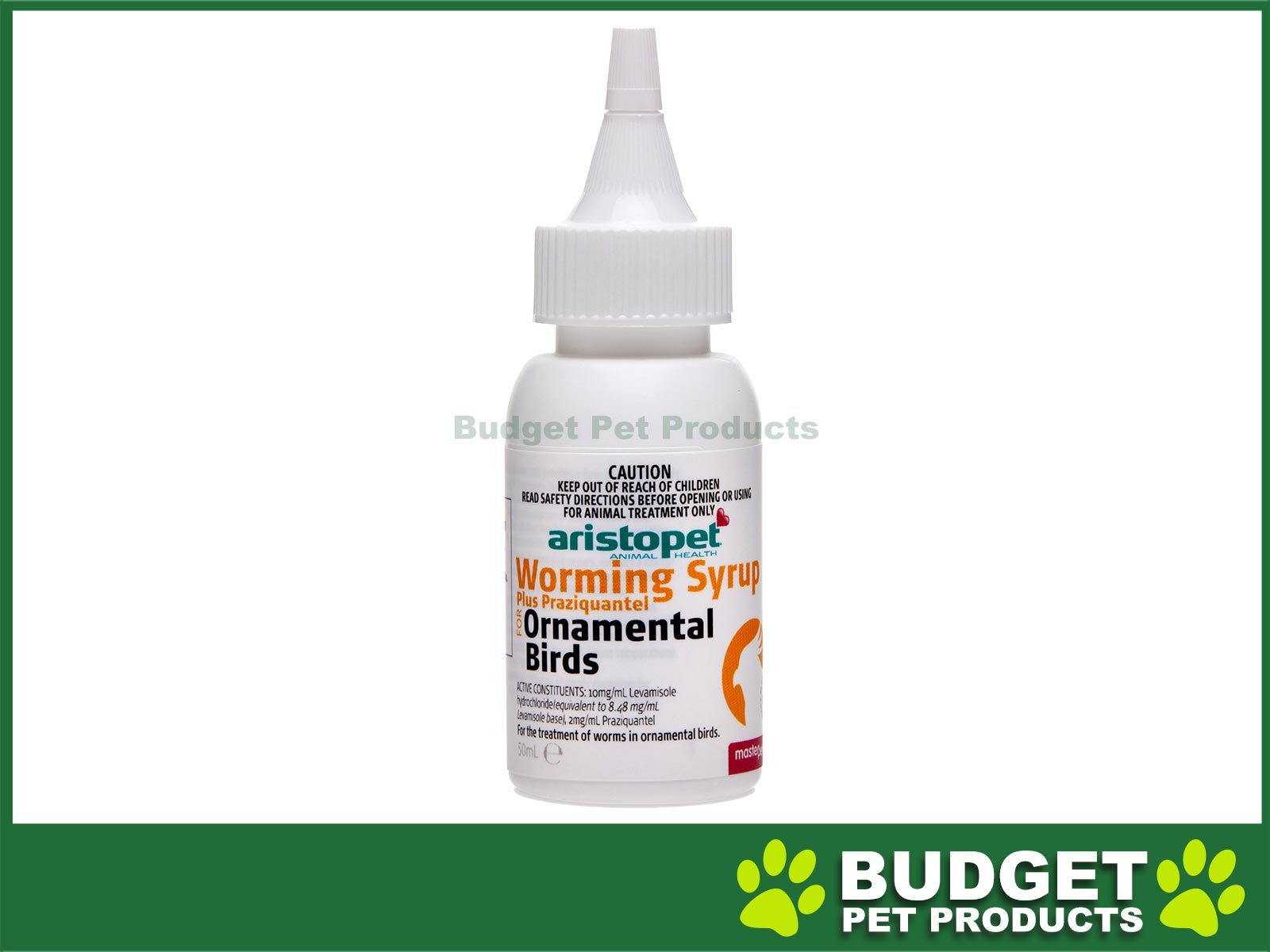 Other Bird Supplies Aristopet Worming Syrup Plus Praziquantel For Ornamental Birds 50ml