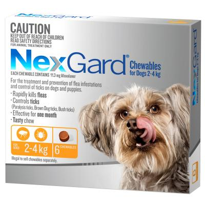 NexGard For Dogs Orange Very Small 2.0-4kg 6 Pack