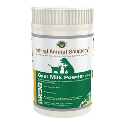 Natural Animal Solutions (NAS) Goat Milk Powder For Dogs And Cats 400gm