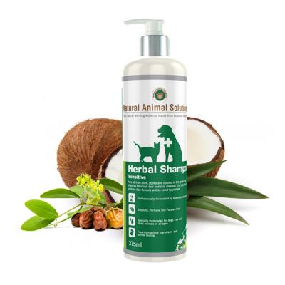 Natural Animal Solutions Herbal Sensitive Shampoo  For Dogs And Cats 375ml