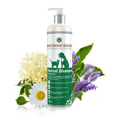 Natural Animal Solutions Herbal Normal Shampoo  For Dogs And Cats 375ml