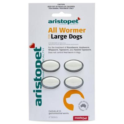 Aristopet AllWormer For Large Dogs 20kg Tablet 4 Pack