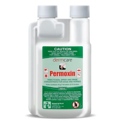 Permoxin Dermcare Insecticidal Spray And Rinse For Dogs And Horses 250ml