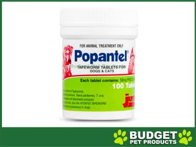 Popantel Tapeworm Tablets for Dogs and Cats 100 Tablet