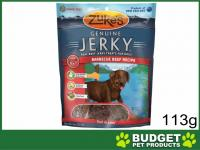 Zukes Beef Jerky Barbecue Treats For Dogs 113g