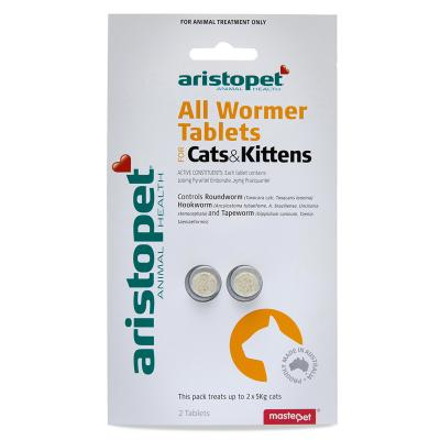 Aristopet AllWormer For Cat And Kittens 2pk