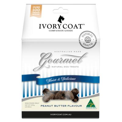 Ivory Coat Gourmet Natural Peanut Butter Treats For Dogs 300gm