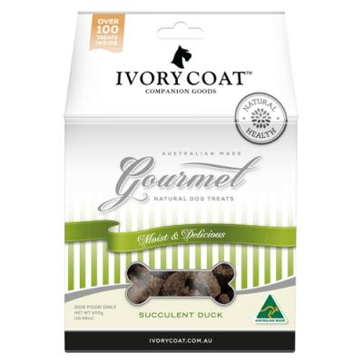 Ivory Coat Gourmet Natural Succulent Duck Treats For Dogs 300gm