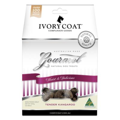 Ivory Coat Gourmet Natural Tender Kangaroo Treats For Dogs 300gm