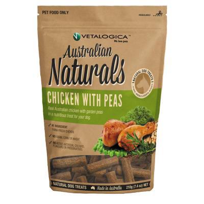 Vetalogica Australian Naturals Chicken With Peas Grain Free Treats For Dogs 210g