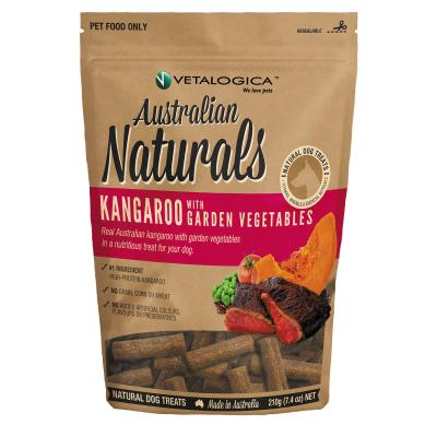 Vetalogica Australian Naturals Kangaroo And Garden Vegetables Grain Free Treats For Dogs 210g