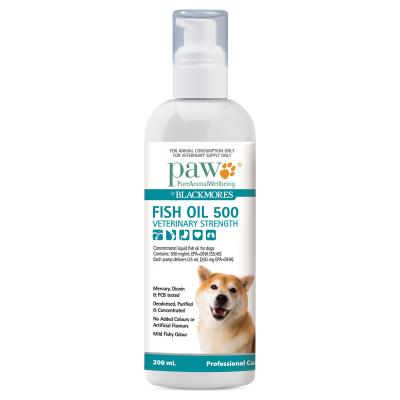 Paw By Blackmores Veterinary Strength Fish Oil 500 For Dogs 200ml