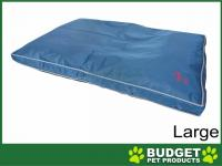 Yours Droolly Osteo Contour Support Navy Outdoor Bed Large For Dogs