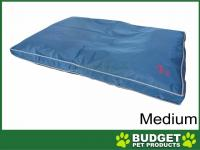 Yours Droolly Osteo Contour Support Navy Outdoor Bed Medium For Dogs