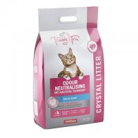 Trouble & Trix Odour Neutralising Anti Bacterial Fresh Scent Crystal Litter For Cats 15L Bag / 6.4kg