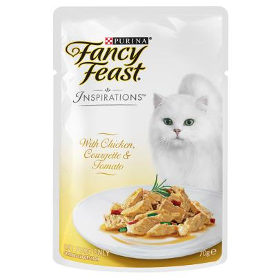 Fancy Feast Inspirations Chicken, Courgette And Tomato Pouches Wet Cat Food 70g x 12